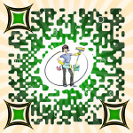 An example of a custom designed QR code for our client Housekeeping-Specialist.com