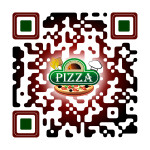 This is a sample of our custom designed QR code work - Pizza Shop