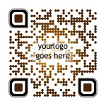 This is a sample of our custom designed QR code work - Brown/Dotted Sample
