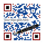 """This is a sample of our custom designed QR code work - Sample """"Sketch Style"""" QR Code"""