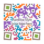 This is a sample of WEBv5 custom designed QR code work - Multi-Colored Style