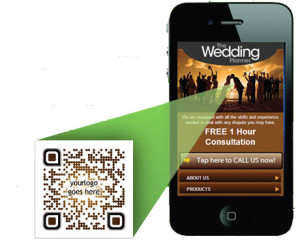 Sample WEBv5.com custom designed QR code to mobile website landing page